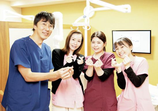スタッフと患者様が 笑顔で会話を楽しめる医院